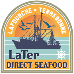 Logo for LaTer Direct Seafood.